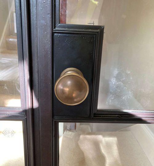 Joseph-Giles-door-knob-on-steel-door
